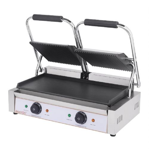 Contact Grill Twin / Ribbed Top & Smooth Bottom - PG-2SC
